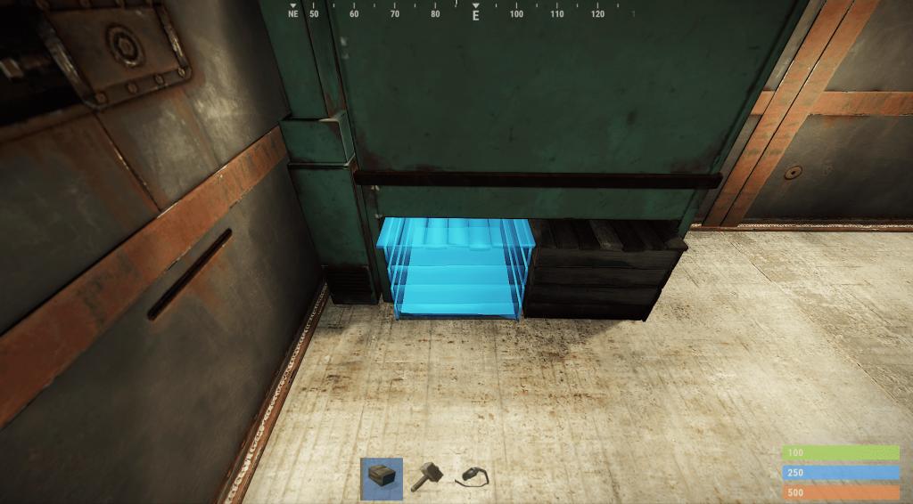 Установка второго ящика под верстаком в Rust