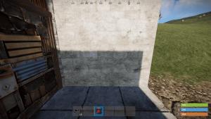 Установка лазерного датчика снаружи здания в Rust