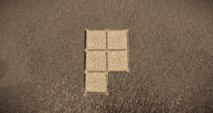 Установка фундаментов для дома-ловушки в Rust