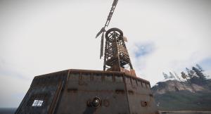 Установленные ветрогенератор и датчик сердцебиения в Rust
