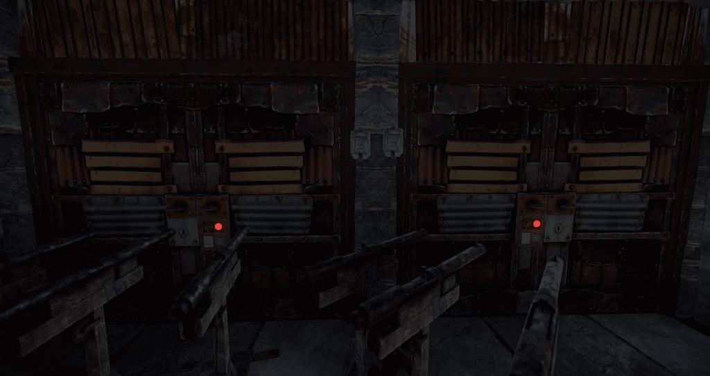 Установленные дверные контроллеры, подключённые к дверям в Rust