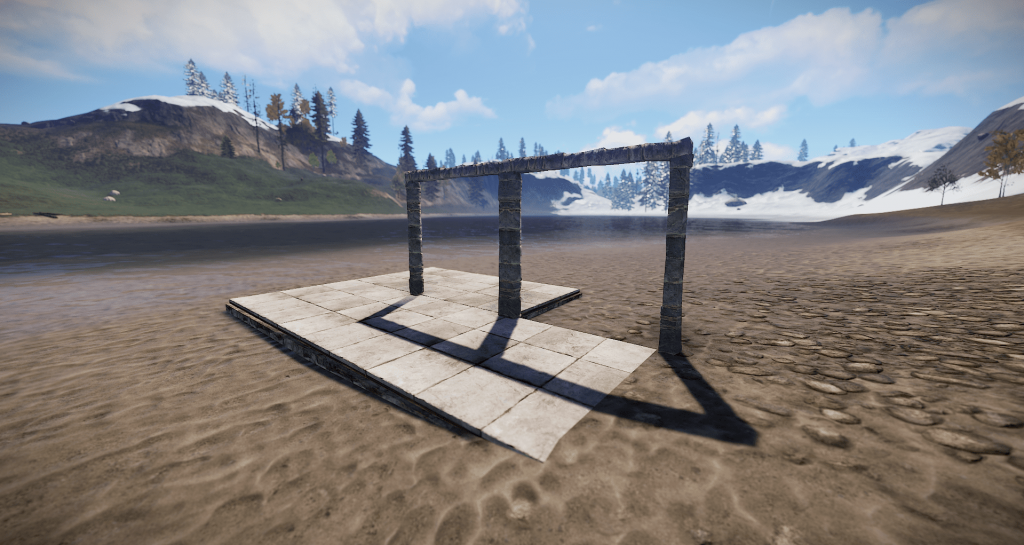 Установленные настенные каркасы в Rust