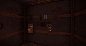 Установленные на стене электрические компоненты в Rust