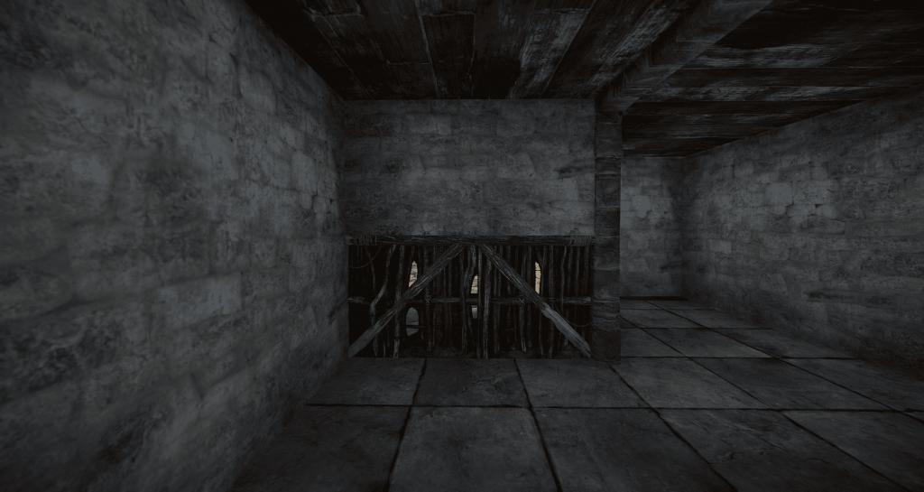 Установленные половинчатые стены в Rust