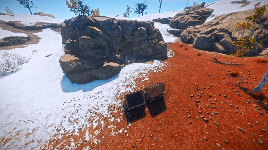 Шахтёрские тележки и ящик в Rust