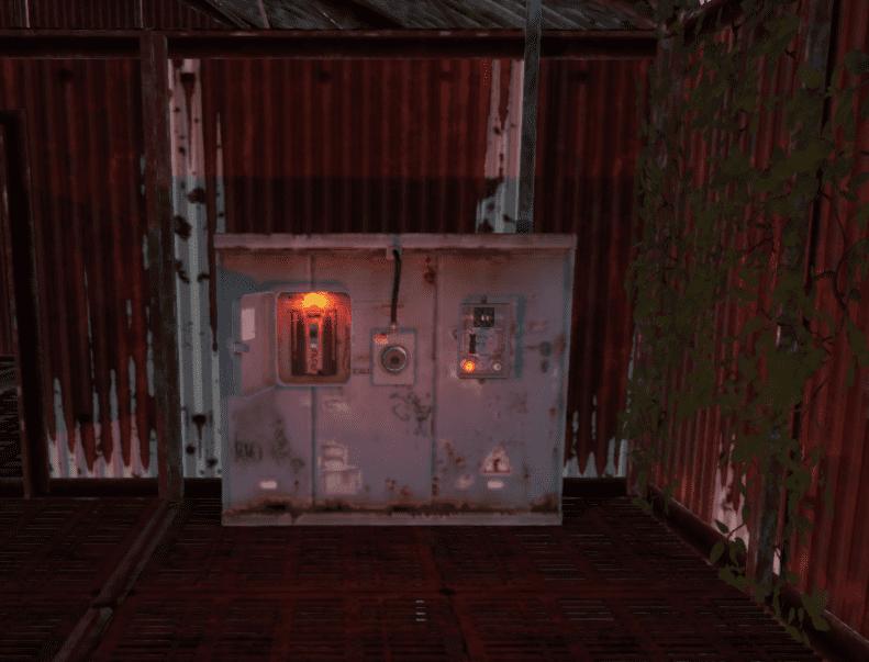 Электрические элементы в складском здании в Rust