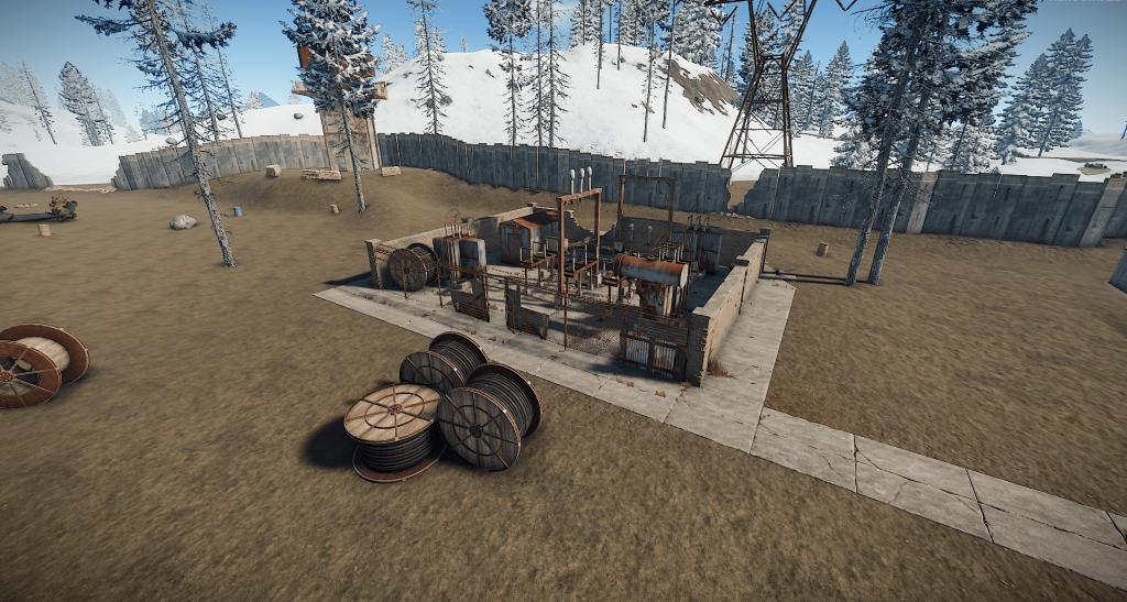 Электробудки на РТ Аэродром в Rust