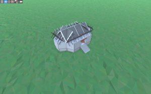 Внешний вид небольшого дома для 1-2 игроков в Rust