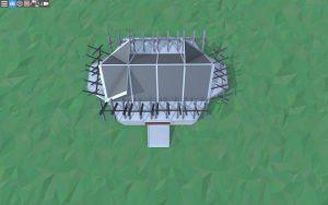 Крыша небольшого дома для 1-2 игроков в Rust