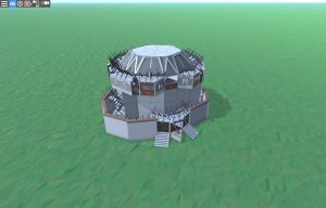 Внешний вид шипастого дома для 2-3 игроков в Rust