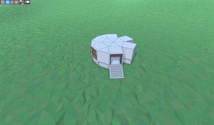 Внешний вид дома для соло игрока с подвалом в Rust