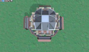 Крыша снайперской башни в Rust
