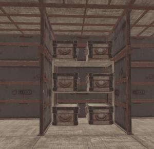 6 ящиков на 1 полке в Rust