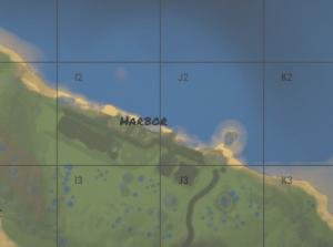 Harbor Large на внутриигровой карте в Rust