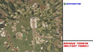Military tunnel в Rust - Карта РТ