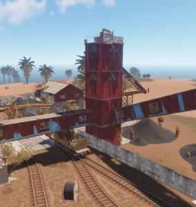 """Башня с надземным туннелем на РТ """"Power plant"""" в Rust"""