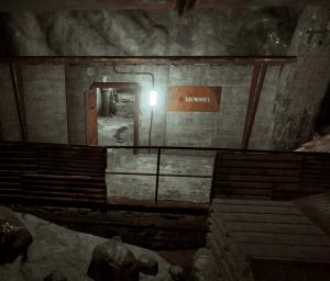 """Вход в комнату с арсеналом на РТ """"Военные туннели"""" в Rust"""