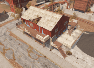 "Здание у ёмкостей для хранения топлива на РТ ""Power plant"" в Rust"