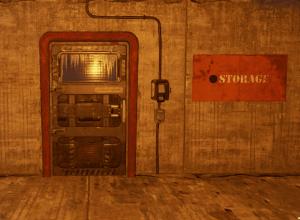 """Зелёная заблокированная дверь на РТ """"Военные туннели"""" в Rust"""