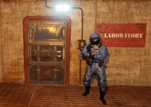 """Синяя заблокированная дверь на РТ """"Военные туннели"""" в Rust"""