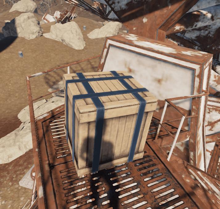 Ящик на исправной антенне в игре Rust