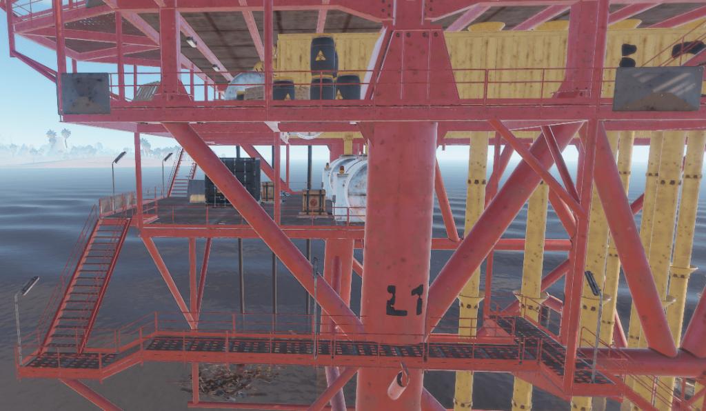 Первый уровень нефтяной вышки в Rust