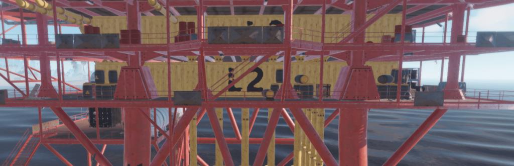 Второй уровень нефтяной вышки в Rust