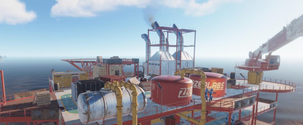 Четвёртый уровень нефтяной вышки в Rust