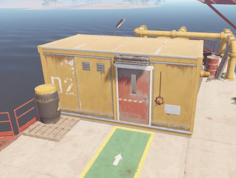 Вторая заблокированная комната на нефтяной вышке в Rust