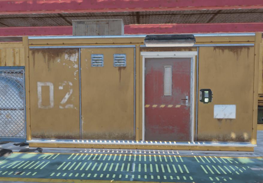 Заблокированная комната на 3 уровне нефтяной вышки в Rust