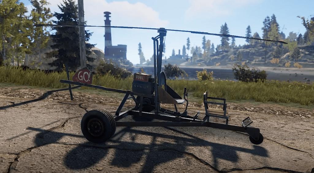 Миникоптер в игре Rust