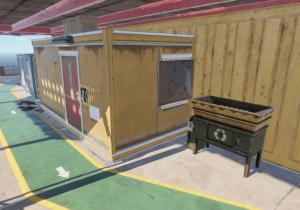 Переработчик у заблокированной комнаты на 3 уровне нефтяной вышки в Rust