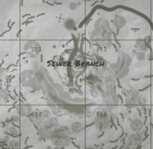 Sewer branch на внутриигровой карте в Rust