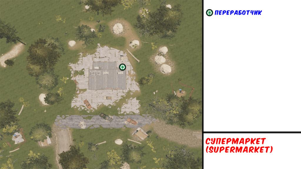Supermarket в Rust - Карта РТ