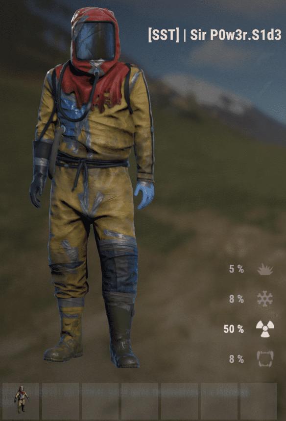 Антирадиационный костюм в Rust