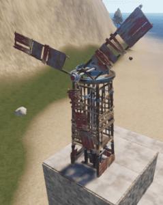 Ветрогенератор на крыше в Rust