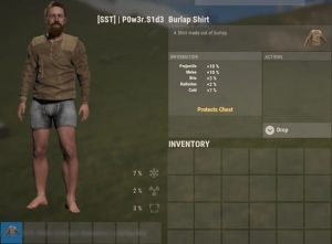 Рубашка из мешковины в Rust