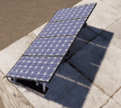 Солнечная панель на крыше в Rust