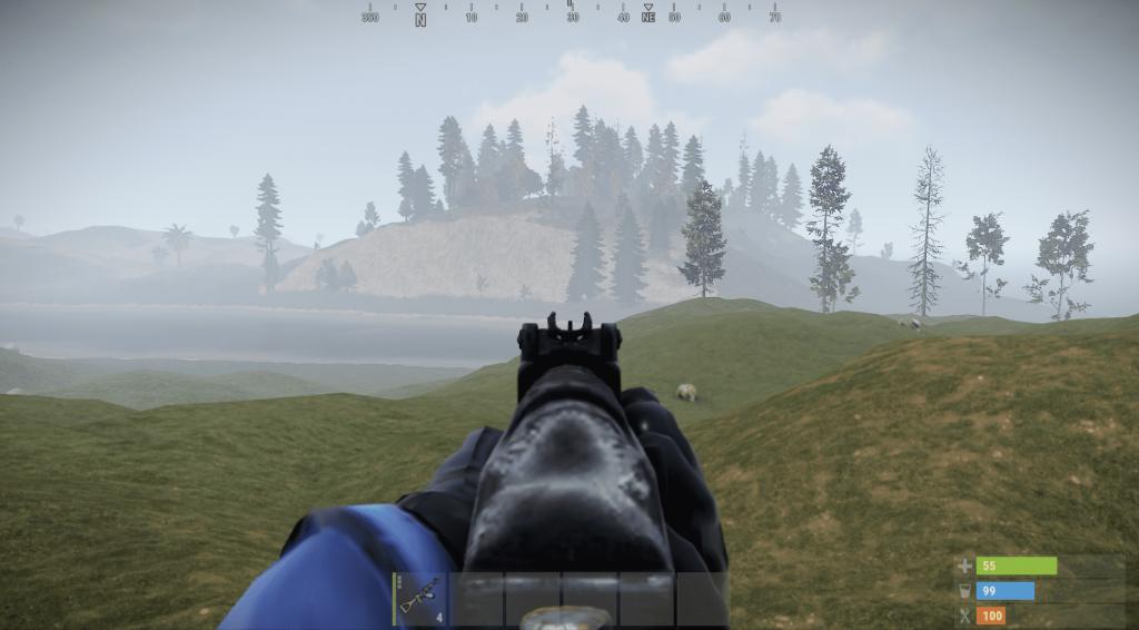 Стандартный прицел штурмовой винтовки в Rust