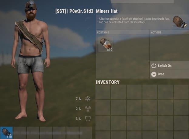 Шахтёрская шапка в Rust