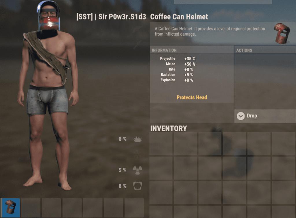 Шлем из кофейной банки в Rust