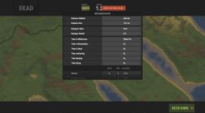 1 часть статистики на экране смерти в Rust