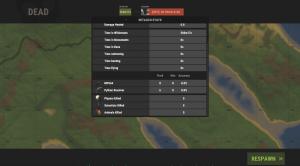2 часть статистики на экране смерти в Rust