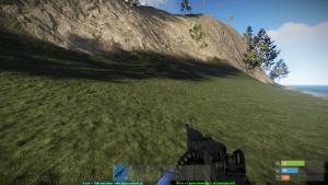 M249 в руках в Rust