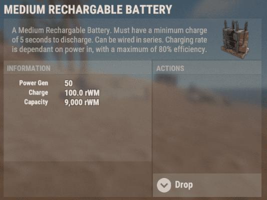 Информация о генерации электроэнергии аккумулятором в Rust