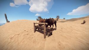 Лошади у кормушки в Rust