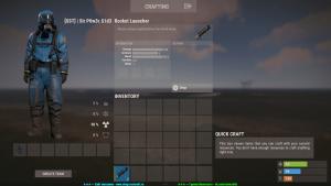 Ракетница в инвентаре в Rust