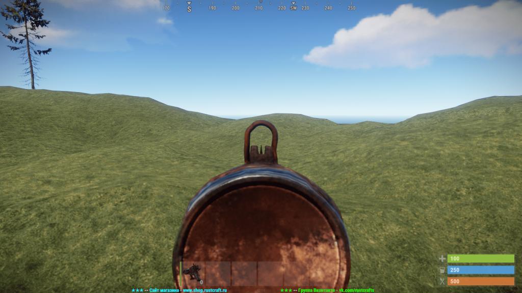 Стандартный прицел гвоздемёта в Rust