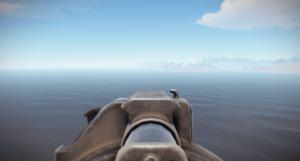Стандартный прицел гранатомёта в Rust