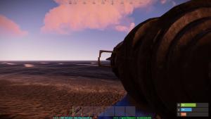 Стандартный прицел ракетницы в Rust